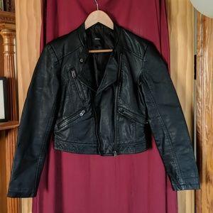 Forever 21 crop leather jacket